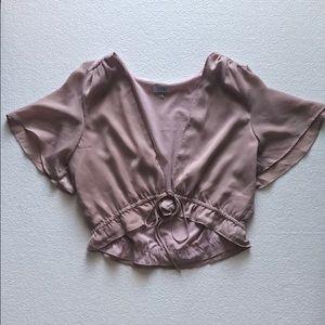 Blush blouse worn once